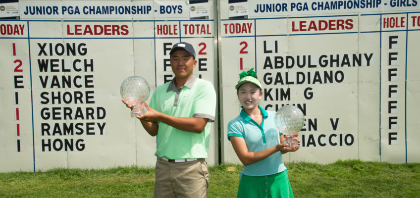 Norman Xiong and Lucy Li reign victorious at the 41st Junior PGA Championship
