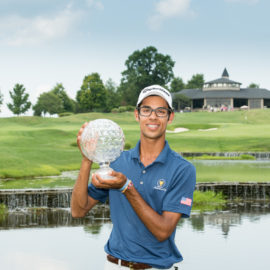 Akshay Bhatia Sinks Miraculous 40-Foot Eagle Chip-In to Become First-Ever Back-to-Back Boys Junior PGA Champion