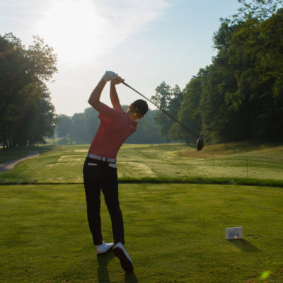 HARTFORD, CT - JULY 30: Luke Clanton hits his tee shot on the 10th hole during the first round for the 44th Boys Junior PGA Championship held at Keney Park Golf Course on July 30, 2019 in Hartford, Connecticut. (Photo by Hailey Garrett/PGA of America)
