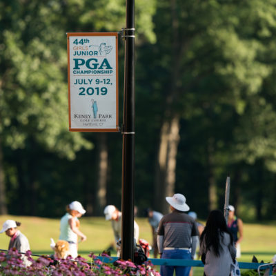 HARTFORD, CT - July 9: Course signage during the first round of the 44th Girls Junior PGA Championship held at Keney Park Golf Course on July 9, 2019 in Hartford, Connecticut. (Photo by Darren Carroll/PGA of America)