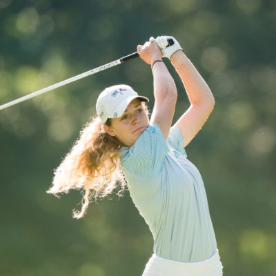 HARTFORD, CT - July 9: Madelyn Jones plays her tee shot at the fifth hole during the first round of the 44th Girls Junior PGA Championship held at Keney Park Golf Course on July 9, 2019 in Hartford, Connecticut. (Photo by Darren Carroll/PGA of America)