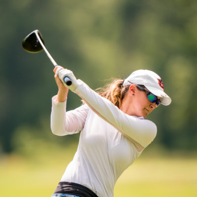 HARTFORD, CT - July 10: Casey Weidenfeld plays her tee shot at the eighth hole during the second round of the 44th Girls Junior PGA Championship held at Keney Park Golf Course on July 10, 2019 in Hartford, Connecticut. (Photo by Darren Carroll/PGA of America)