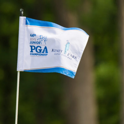 HARTFORD, CT - AUGUST 1: The pin flag on the 17th hole during the third round for the 44th Boys Junior PGA Championship held at Keney Park Golf Course on August 1, 2019 in Hartford, Connecticut. (Photo by Hailey Garrett/PGA of America)