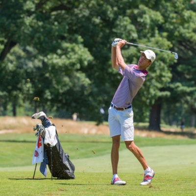 HARTFORD, CT - AUGUST 1: Jack Heath hits out of the fairway on the fifth hole during the third round for the 44th Boys Junior PGA Championship held at Keney Park Golf Course on August 1, 2019 in Hartford, Connecticut. (Photo by Hailey Garrett/PGA of America)