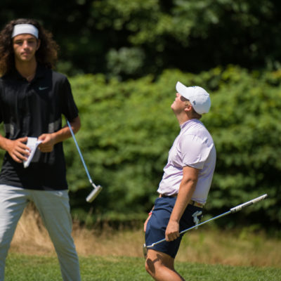 HARTFORD, CT - AUGUST 1: Canon Claycomb reacts to his putt on the eighth hole during the third round for the 44th Boys Junior PGA Championship held at Keney Park Golf Course on August 1, 2019 in Hartford, Connecticut. (Photo by Hailey Garrett/PGA of America)
