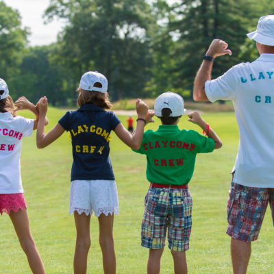 HARTFORD, CT - AUGUST 2: Canon Claycomb fans on the fourth fairway during the final round of the 44th Girls Junior PGA Championship held at Keney Park Golf Course on August 2, 2019 in Hartford, Connecticut. (Photo by Hailey Garrett/PGA of America)