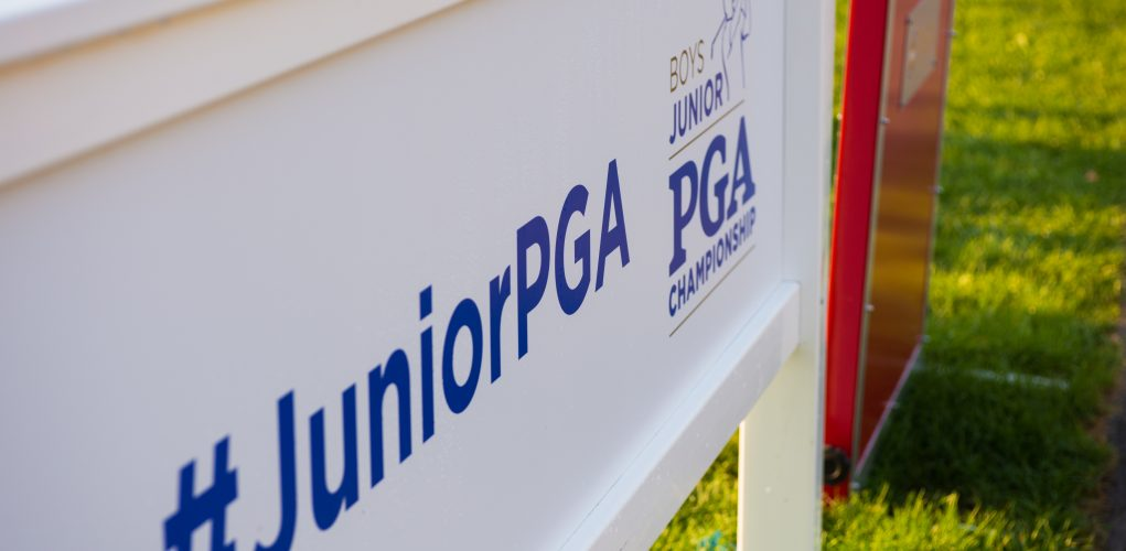 HARTFORD, CT - JULY 30: Signage on the 10th hole during the first round for the 44th Boys Junior PGA Championship held at Keney Park Golf Course on July 30, 2019 in Hartford, Connecticut. (Photo by Hailey Garrett/PGA of America)